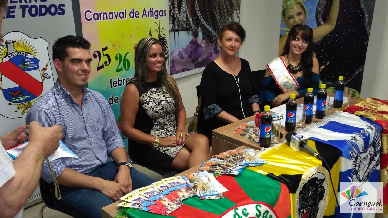 Lanzamiento del Carnaval de Artigas 2017