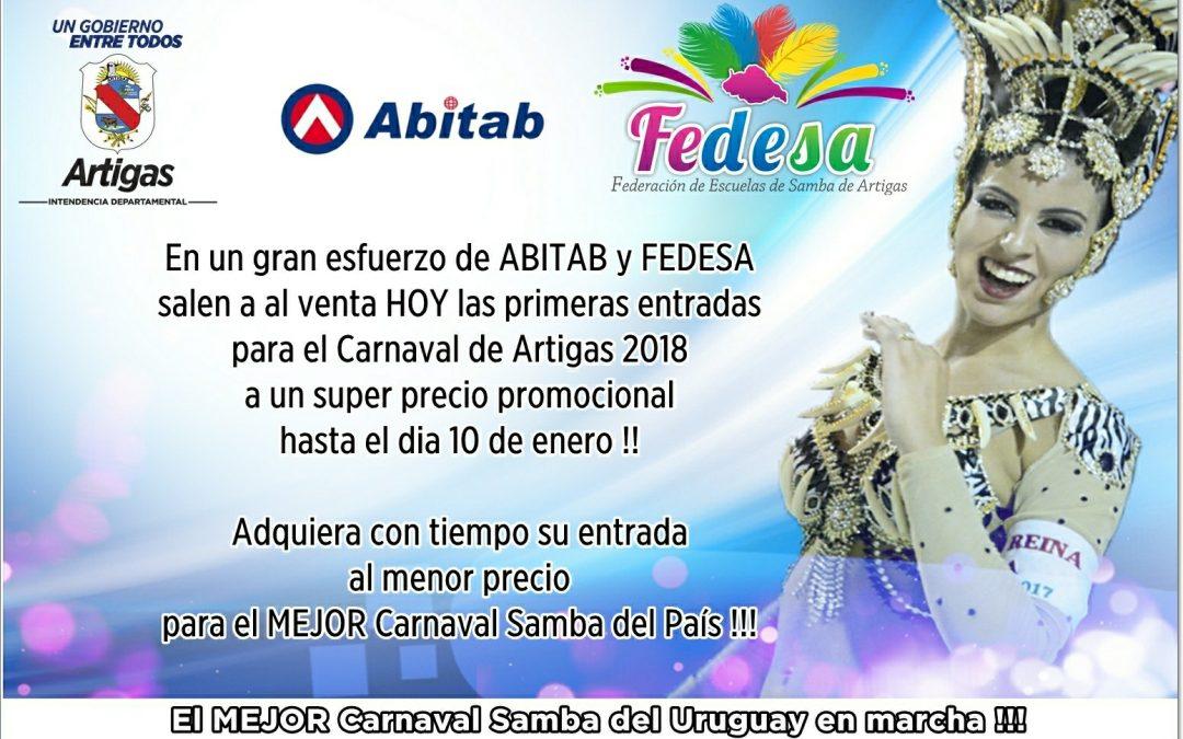 Comenienza la venta de entradas para el Carnaval de Artigas 2018
