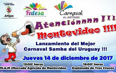 Lanzamiento del Carnaval de Artigas 2018 en Montevideo.