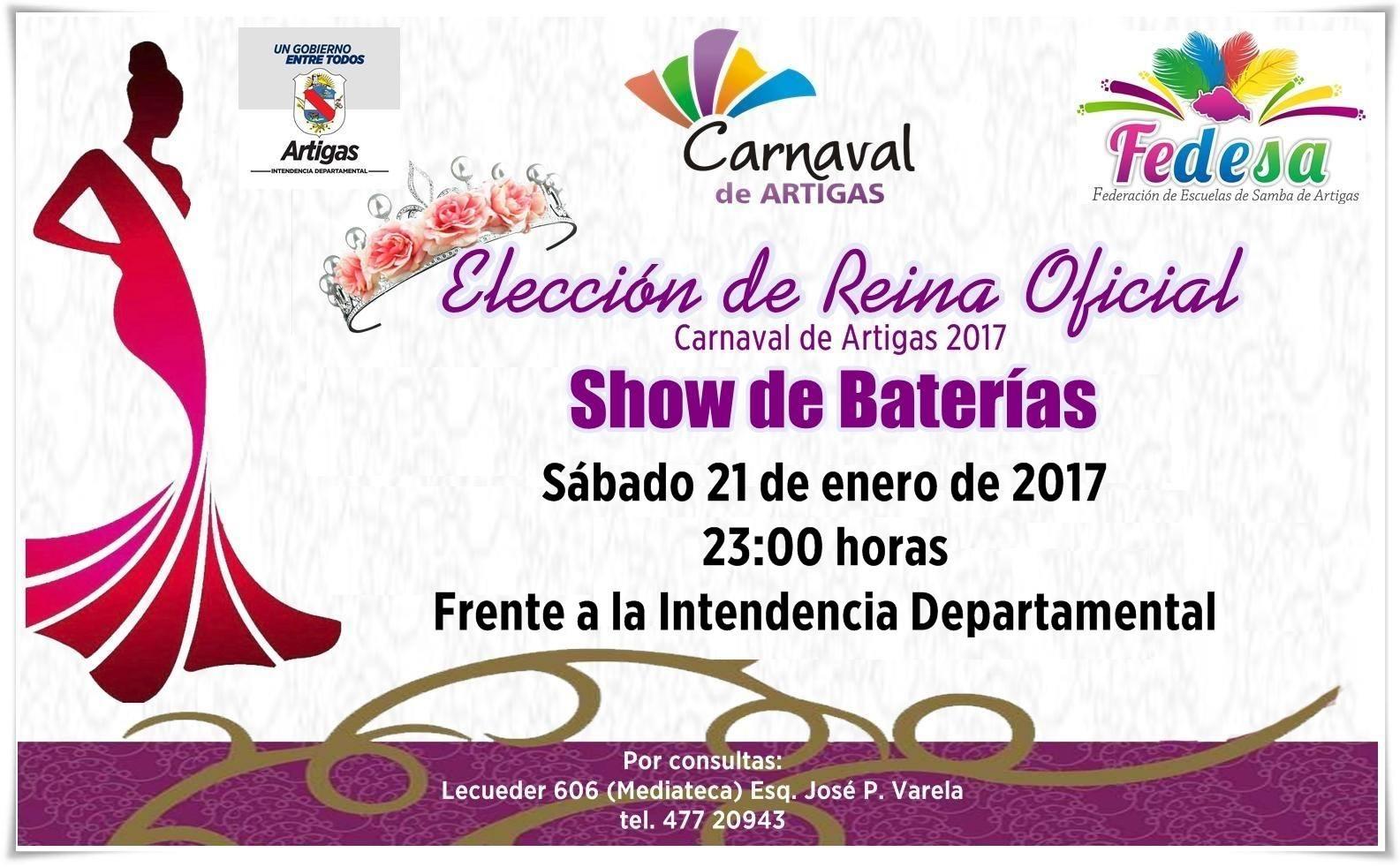 Elección de la Reina Oficial del Carnaval de Artigas