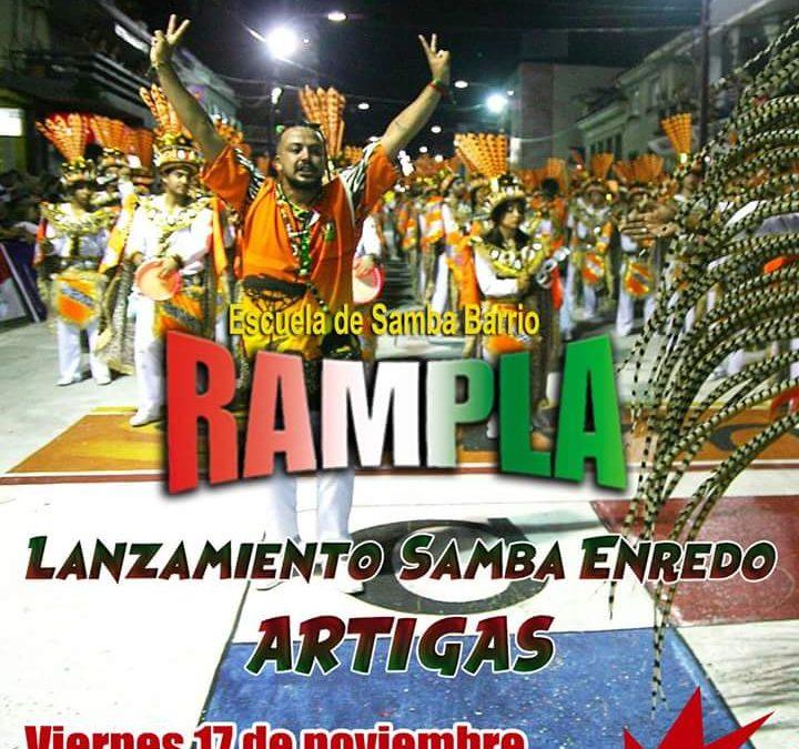 Lanzamiento del Samba Enredo 2018 de Rampla