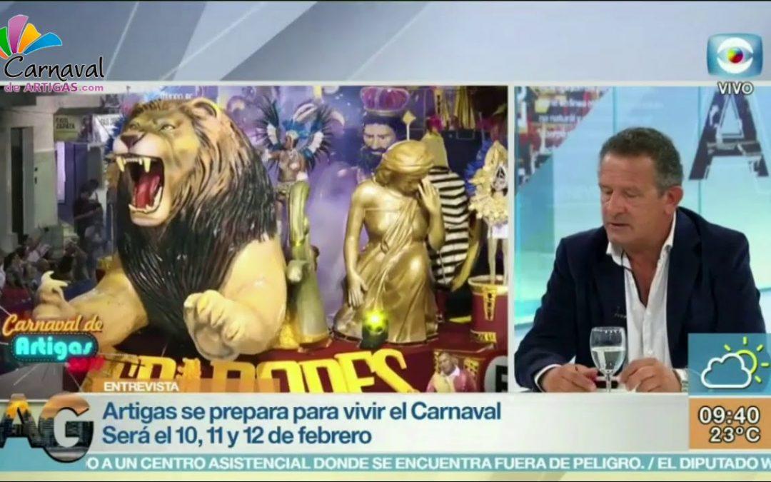 Presentación del Carnaval de Artigas 2018 en Montevideo